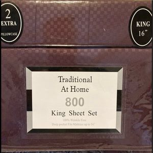 Traditional At Home 6pc King Sheet Set plum purple